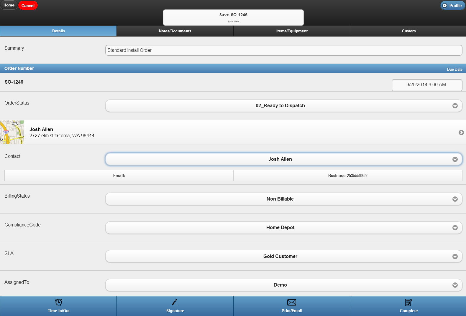 Work order management app lets techs work from any mobile device in the field and syncs all info back to the office