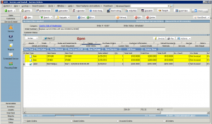 High 5 Software SME Service Section Order Items Tab Sample Screenshot